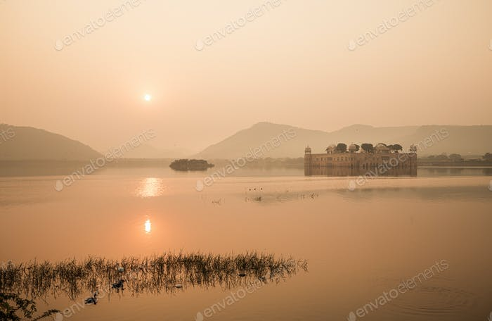 Jal Mahal (meaning Water Palace) is a palace in the middle of the Man Sagar Lake
