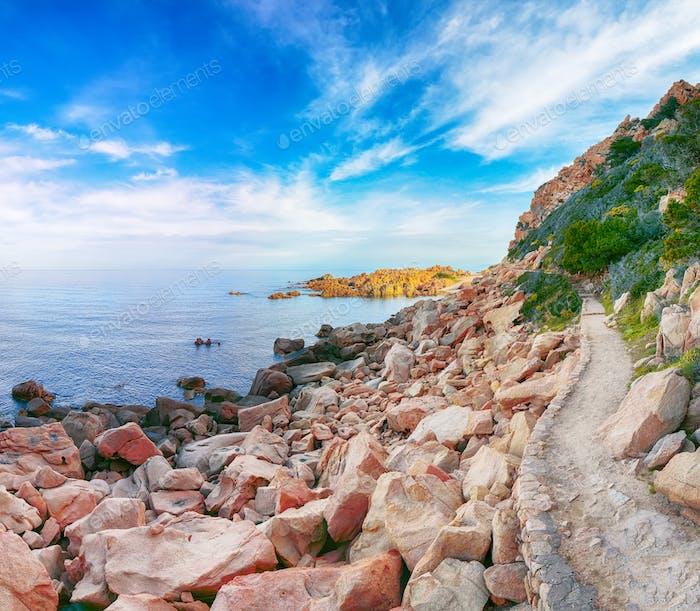 Stunning view of popular travel destination Costa Paradiso.