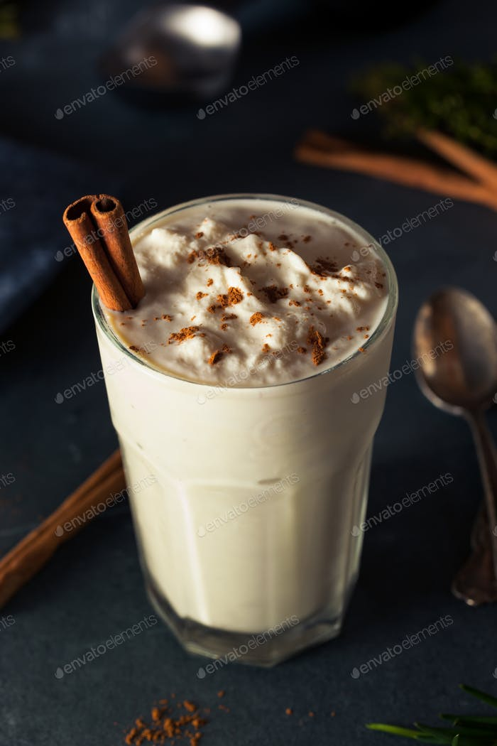 Homemade Eggnog Ice Cream Milkshake