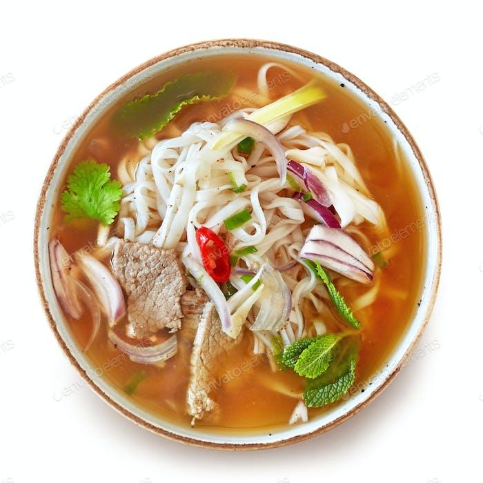 bowl of vietnamese soup
