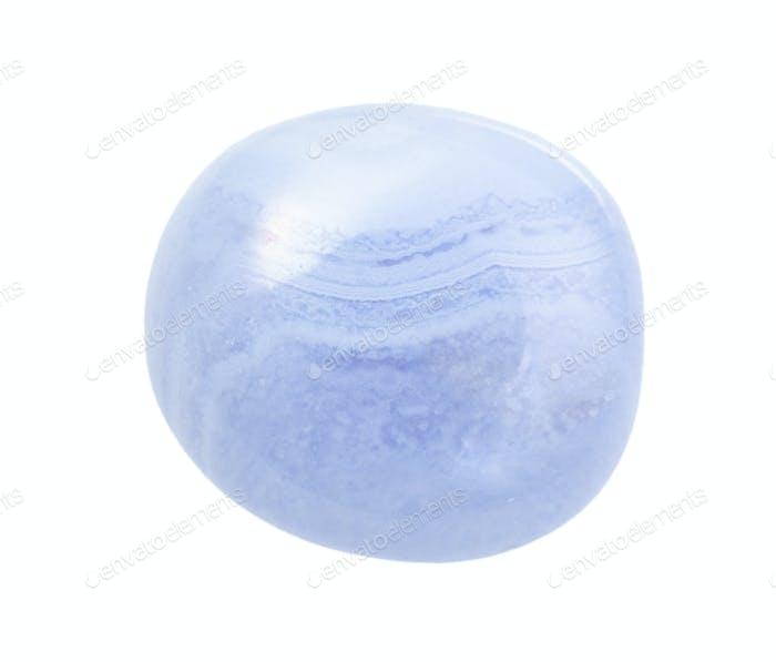 polished blue lace agate (Chalcedony) gemstone