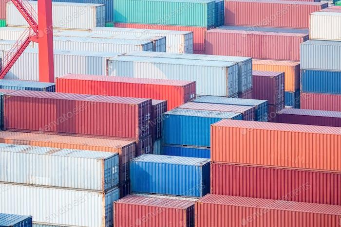 container closeup in terminal