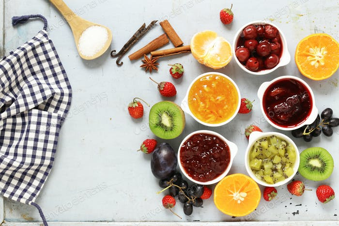 Assorted Berries and Fruit Jams