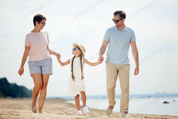 Portrait of Family at Sea Resort