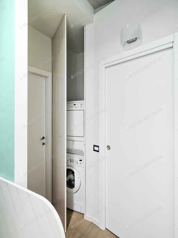 Washmachine Hidden in the Closet