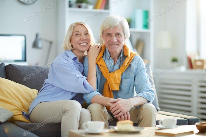 Contemporary Senior Couple Posing