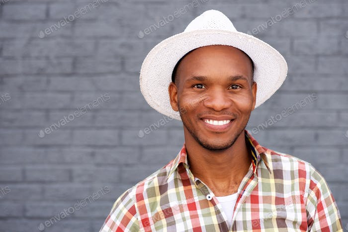 Cool young guy wearing hat