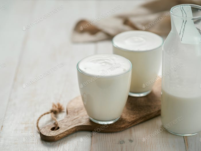 Salud intestinal, concepto de productos fermentados