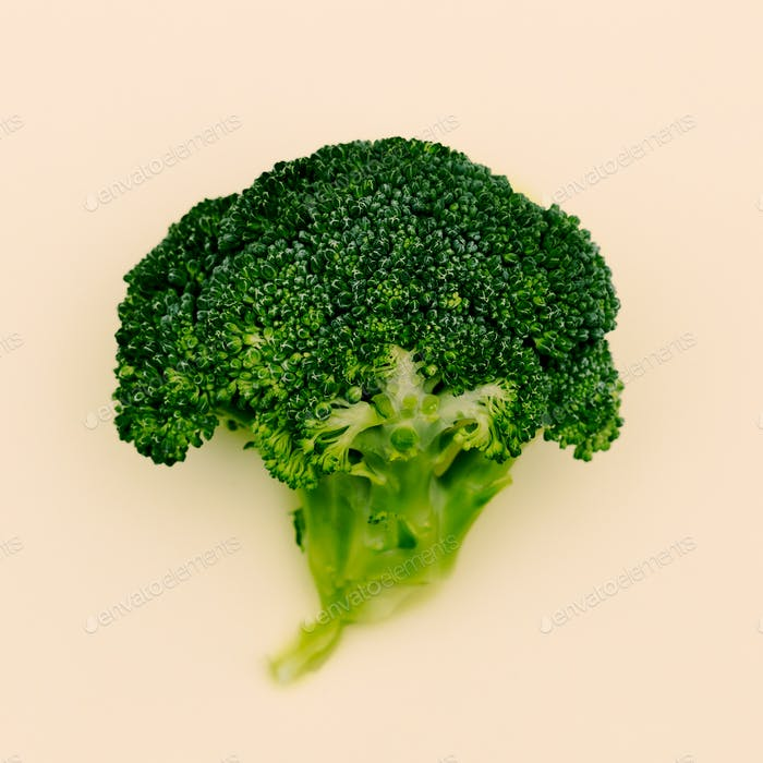 Cabbage Broccoli Fresh Minimal vegan art