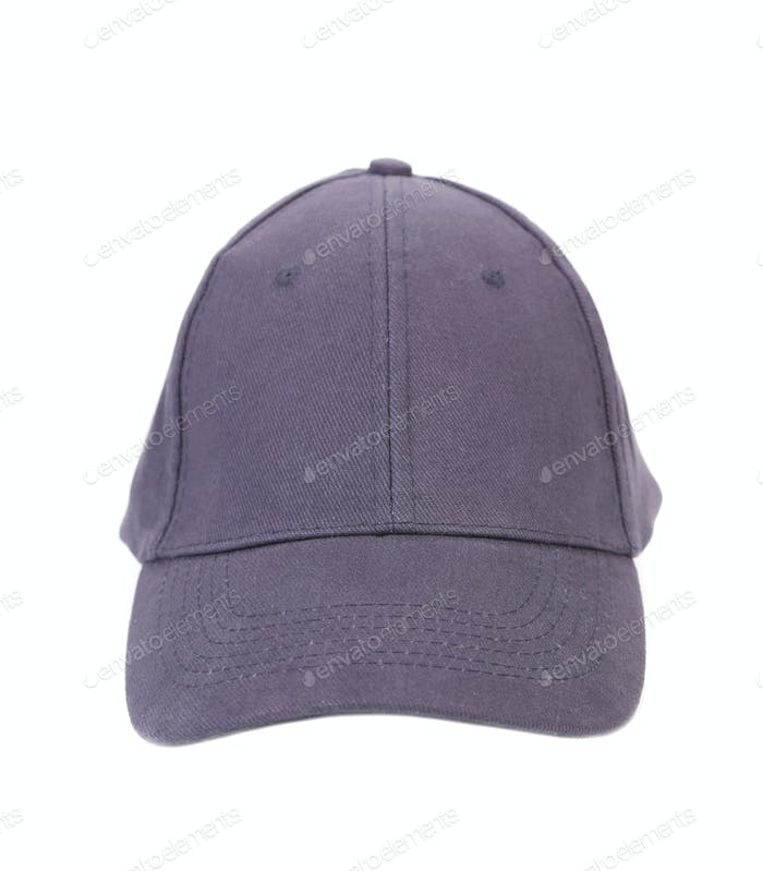 Close up of gray cap. Front view.