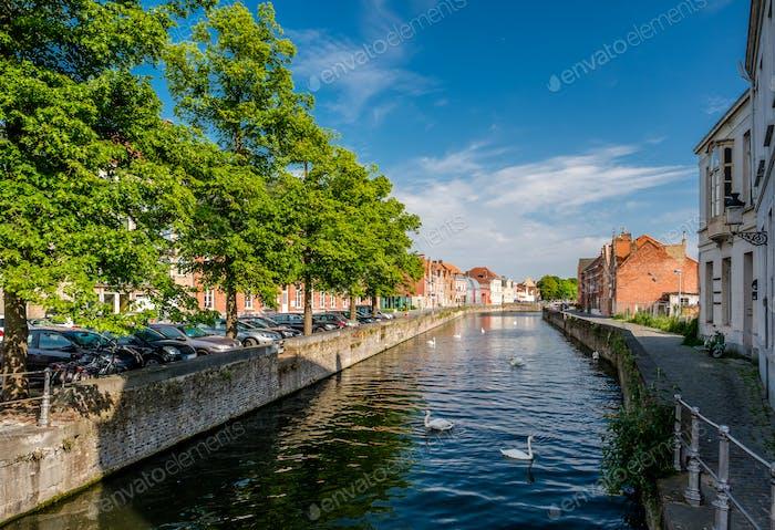 Brügge (Brügge) Stadtbild mit Wasserkanal