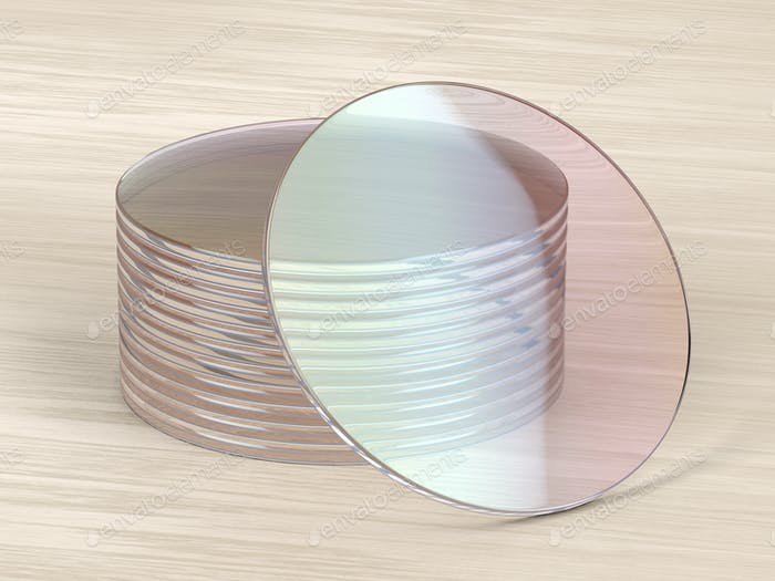 Uncut eyeglasses lens