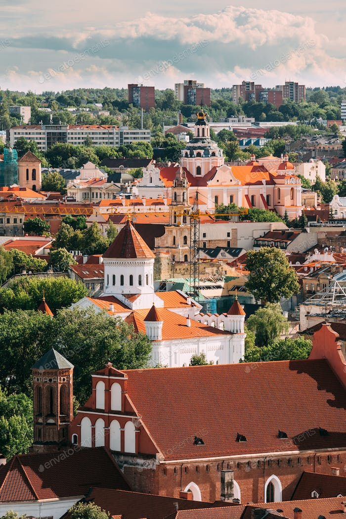 Vilnius, Lithuania. View Of Church Of St. Casimir, Church Of Ble