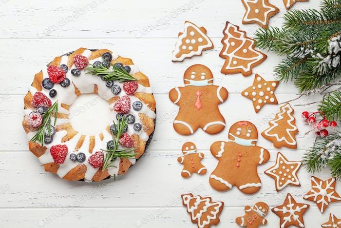 Weihnachtskuchen und Lebkuchen