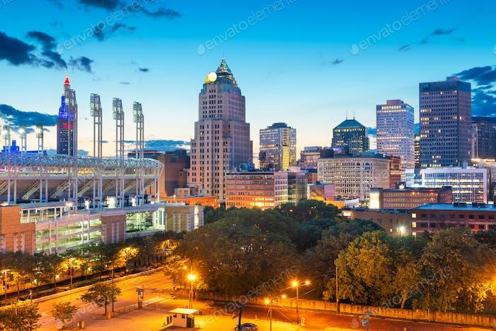 Cleveland, Ohio, USA Downtown Cityscape