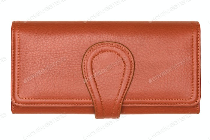 Brown natural leather wallet