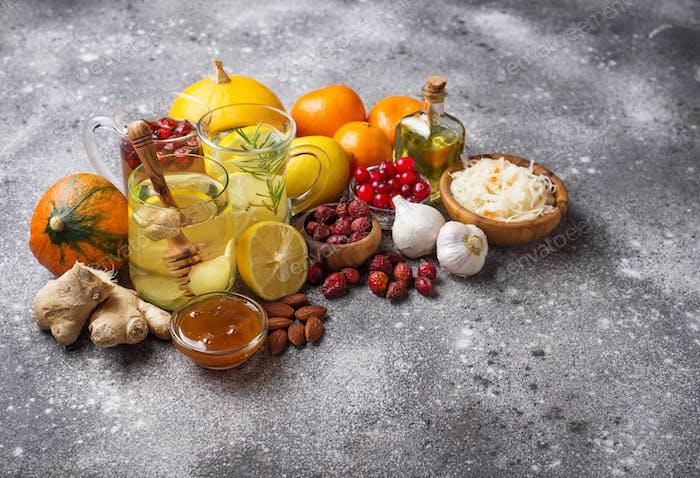 Gesunde Produkte zur Stärkung der Immunität