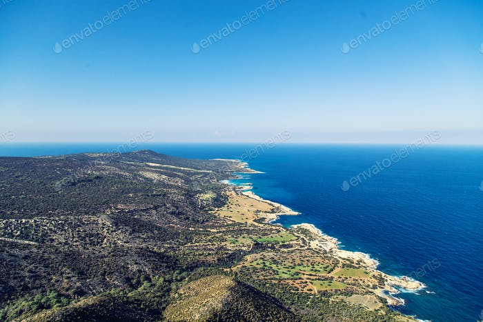 Cyprus Akamas Peninsula National Park mountain's top