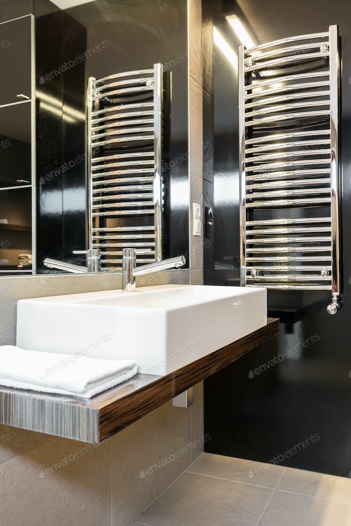 Minimalist modern bathroom interior