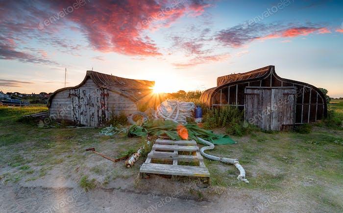 Sunset at Lindisfarne