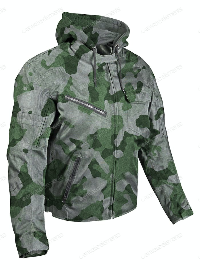 Camouflage jacket isolated on white