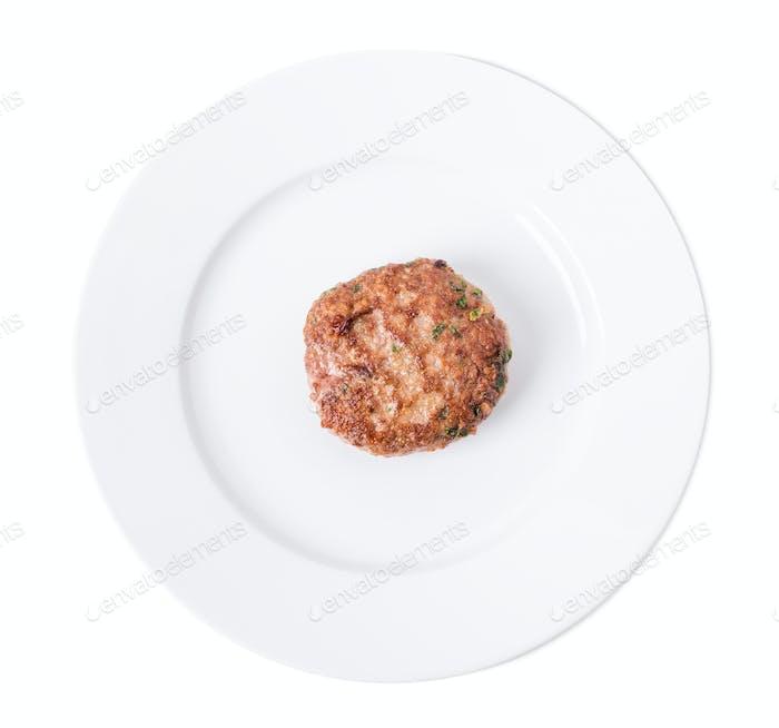 Delicious beef burger cutlet.