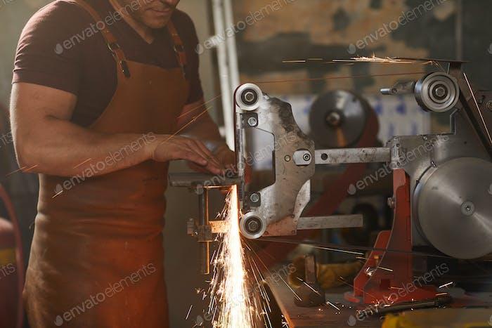 Flat grinding process