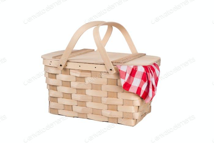 Picnic basket and table cloth
