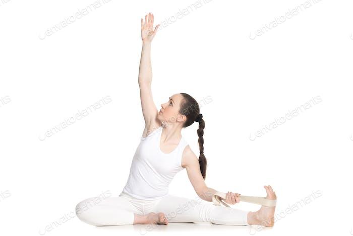 Yoga with props, Parivrtta Janu Sirsasana