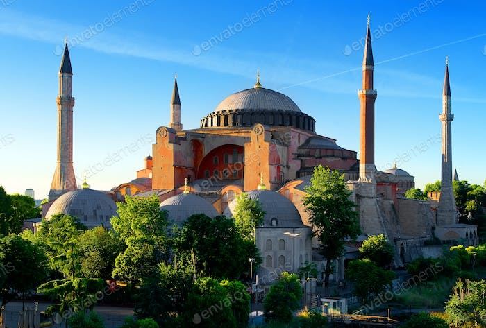 Hagia Sophia in summer