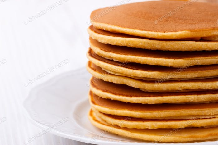 hausgemachte amerikanische Pfannkuchen