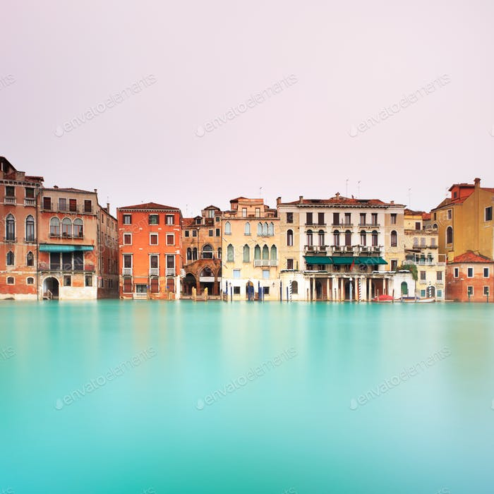 Venice, canal grande detail. Long exposure