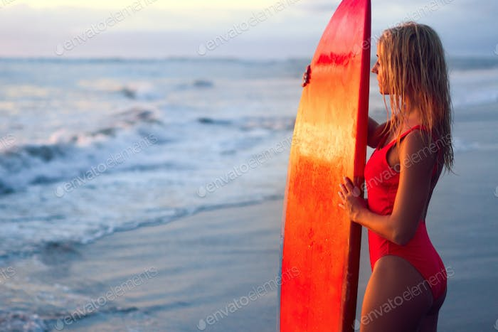 Beautiful surfer