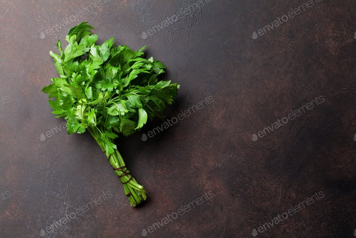 Parsley. Herbs and spices