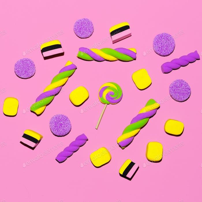 Marshmallow sweets Vanilla Fashion Candy Mood Flatlay Art