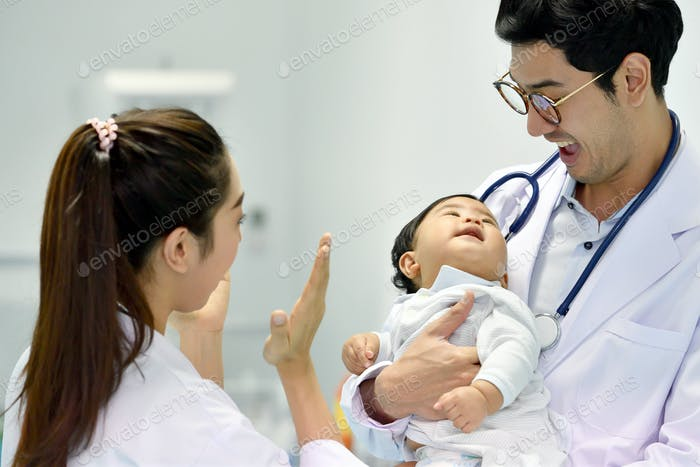 doctor and baby