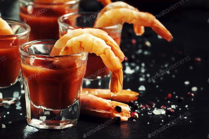 Snack mit Garnelen