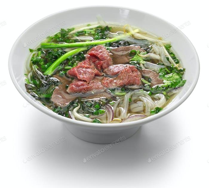 pho bo, vietnamese beef noodle soup