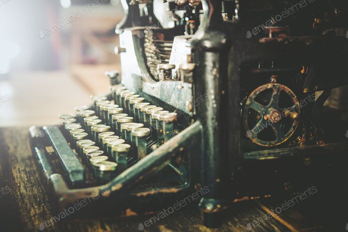 Rusty Vintage Typewriter