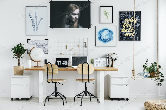 Creative workplace in home