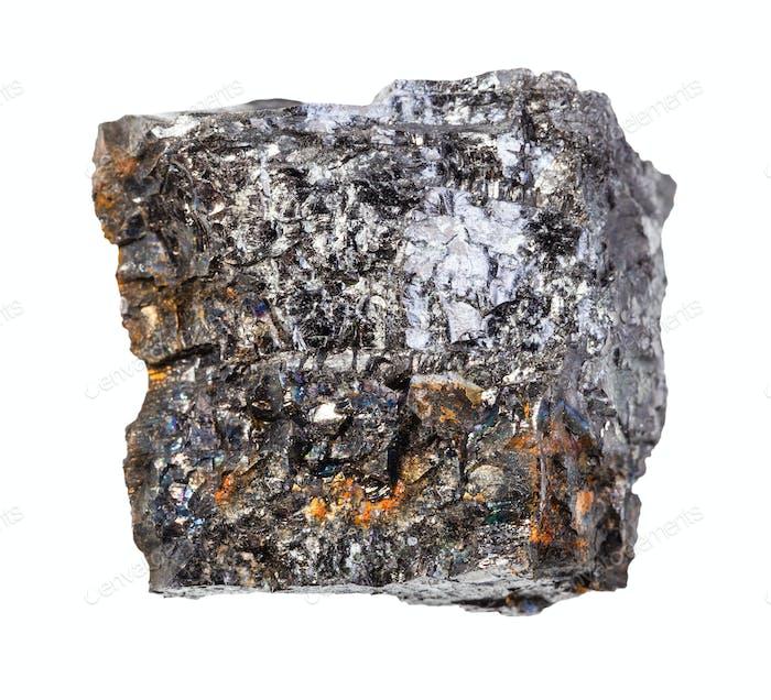 piece of Bituminous coal (black coal) rock