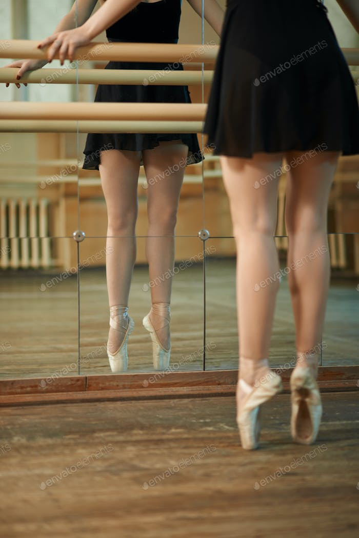slender legs  dancers near Barre