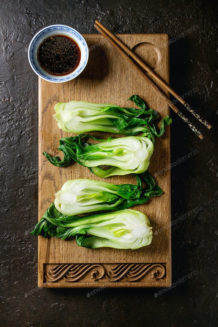 Bok choy with rice