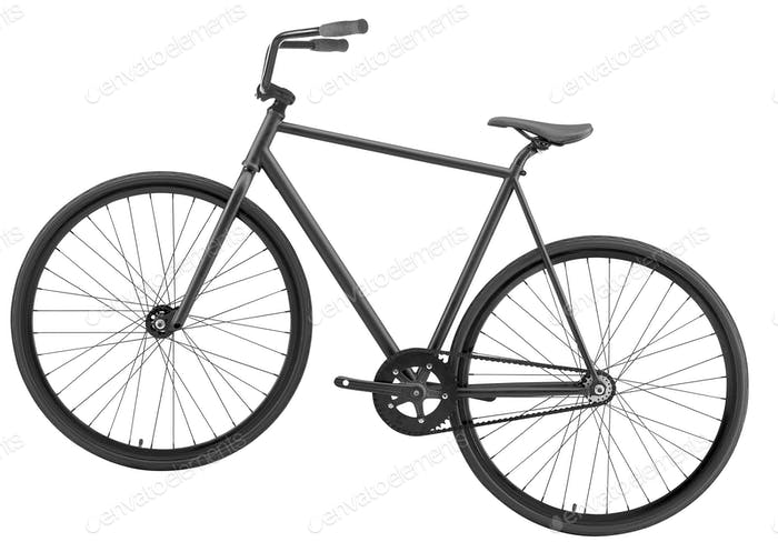Bicycle over white background