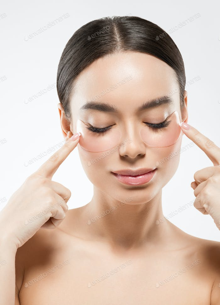 Eyes putch cosmetic mask woman face beauty putches isolated