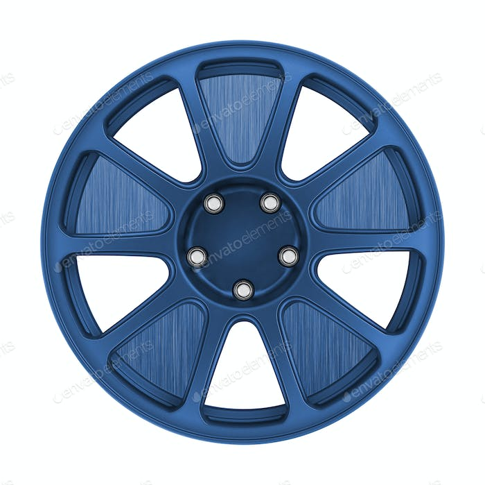 Car wheel, Car alloy rim on white
