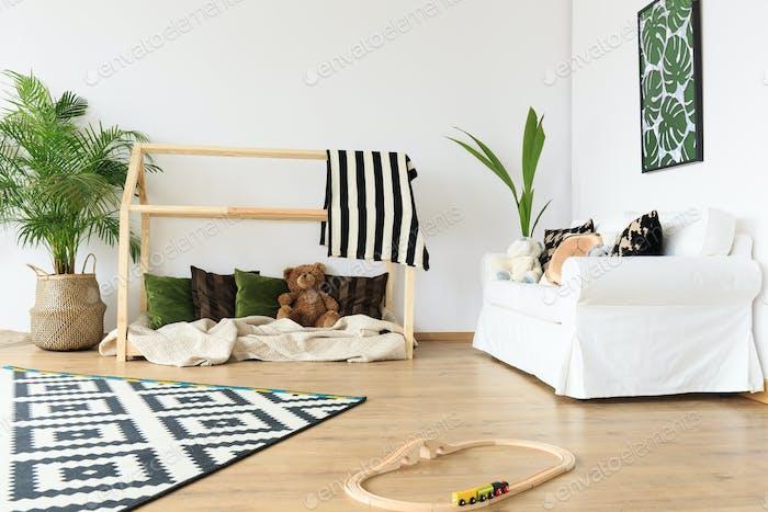 Modern minimalist toddler room