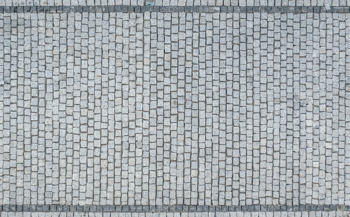Granit Bricks Auffahrt Luftaufnahme