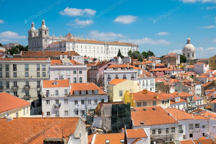 The old Alfama quarter in Lisbon