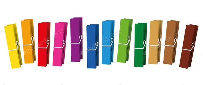 Clothes Pegs Colored Clothespins